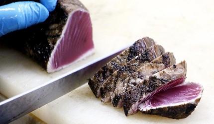 日本高知縣烤半熟鰹魚生魚片