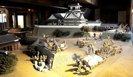 日本高知縣高知城模型