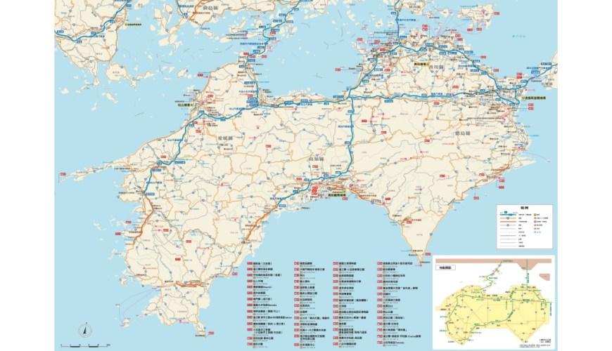 四國自駕地圖