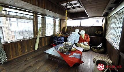 四國自由行搭乘觀光巴士「KOTOBUS IYA VALLEY」巴士內部裝設以天空之村為概念