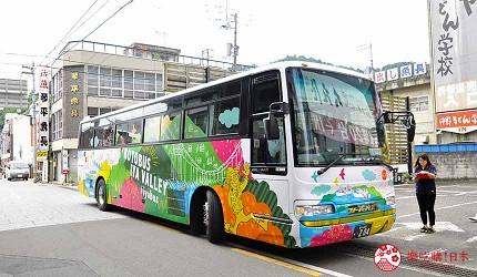 四國自由行搭乘觀光巴士「KOTOBUS IYA VALLEY」琴平車站附近的乘車點