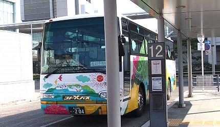 四國自由行搭乘觀光巴士「KOTOBUS IYA VALLEY」JR高松車站12號巴士乘車處