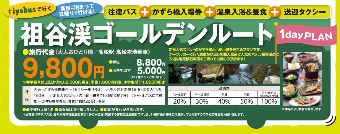 四國自由行搭乘觀光巴士「KOTOBUS IYA VALLEY」前往德島祖谷乘車費用圖片