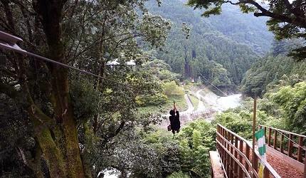 日本四國德島祖谷的高空繩索滑行體驗