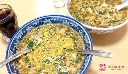 日本高知縣四萬十町美食料理滿州軒醬汁燴飯ジャン麺