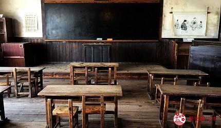 四國「小豆島」必去景點「二十四隻眼睛映畫村」裡教室場景