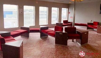 四國「小豆島」推薦觀光一日遊從神戶港搭乘「Jumbo Ferry」船上空間寬敞