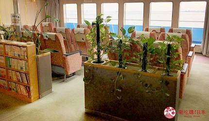 四國「小豆島」推薦觀光一日遊從神戶港搭乘「Jumbo Ferry」船上座椅
