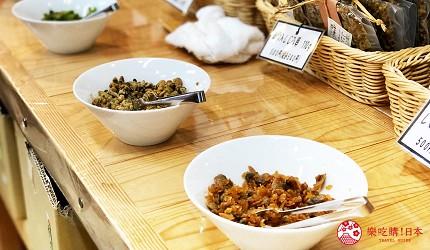 四國「小豆島」上的伴手禮店「京寶亭」販賣的佃煮適合配飯