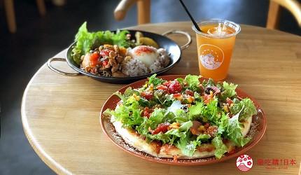 四國「小豆島」必去景點「小豆島橄欖公園」裡的海景餐廳「OLIVAZ」的橄欖料理
