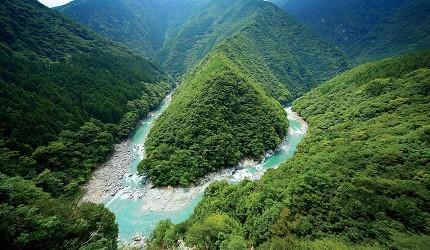 四国德岛「三好市祖谷」必去的景点推荐的「ひ字」溪谷