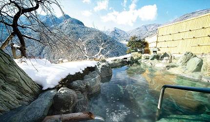四國德島「三好市祖谷」必去的景點推薦的三大秘湯「祖谷溫泉」