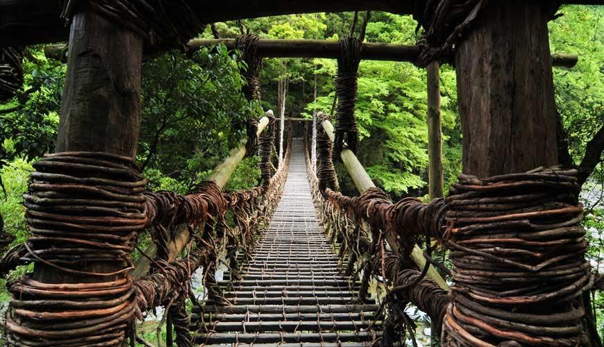 四国德岛「三好市祖谷」必去的景点推荐的祖谷蔓桥