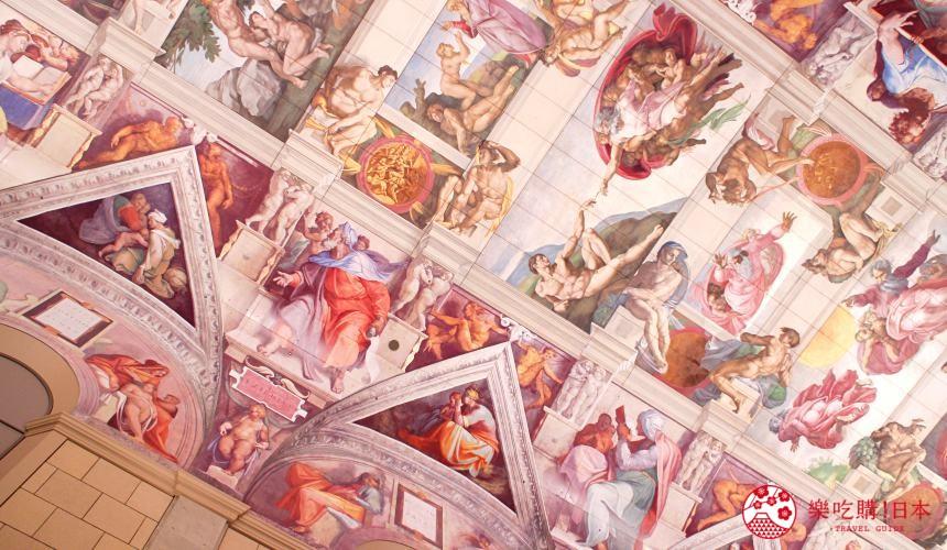 米津玄師紅白歌唱大賽現場直播演唱德島大塚國際美術館可以摸名畫蒙娜麗莎La Gioconda拿破崙加冕禮Coronation里戈路易十四的肖像Portrait of Louis XIV畢雪龐波德夫人Madame de Pompadour德拉克洛瓦領導民眾的自由女神Liberty Leading the People複製畫文藝復興時期服裝cosplay拍照IGFacebook打卡米開朗基羅的《創世紀》穹頂畫