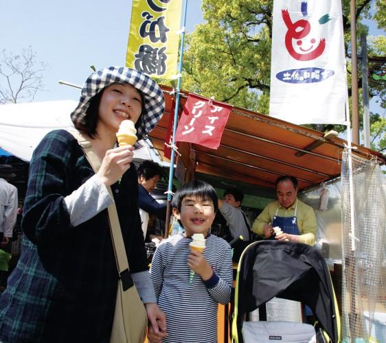 高知日曜市週日市集的冰淇淋