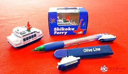 四国必去景点「小豆岛」可搭乘四国邮轮(四国フェリー)上贩售的的限定纪念品