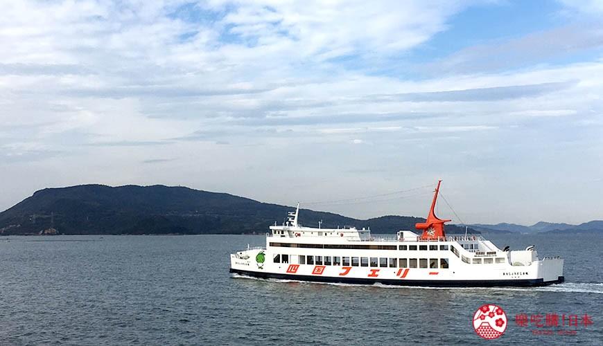 四国必去景点「小豆岛」可搭乘的四国邮轮(四国フェリー)