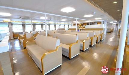 四国必去景点「小豆岛」可搭乘四国邮轮(四国フェリー)的船上空间