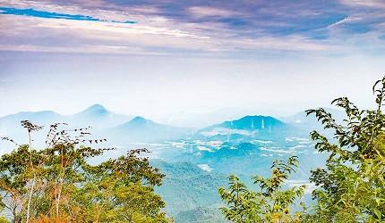 四国香川超漂亮秘境向日葵之乡「满浓町」花海打卡三霞洞溪谷看瀑布推荐推介的大川山美丽的远景