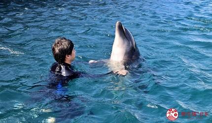 親子旅遊必去推薦四國水族館超另類騎乘海豚好刺激學校泳池養大魟魚的室戶海豚中心的與海豚手牽手漂浮體驗