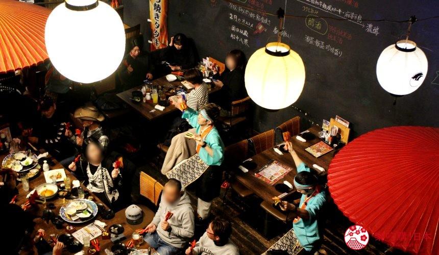日本自由行夏天旅行必去推薦推介最好玩的夏日祭典四國高知夜來祭土佐宴客祭熱舞不停high翻天的餐廳內版本夜來祭跳舞